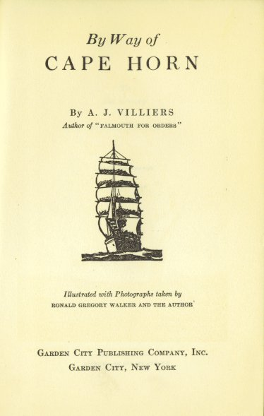 Titelseite Alan J. Villiers, By Way of Cape Horn